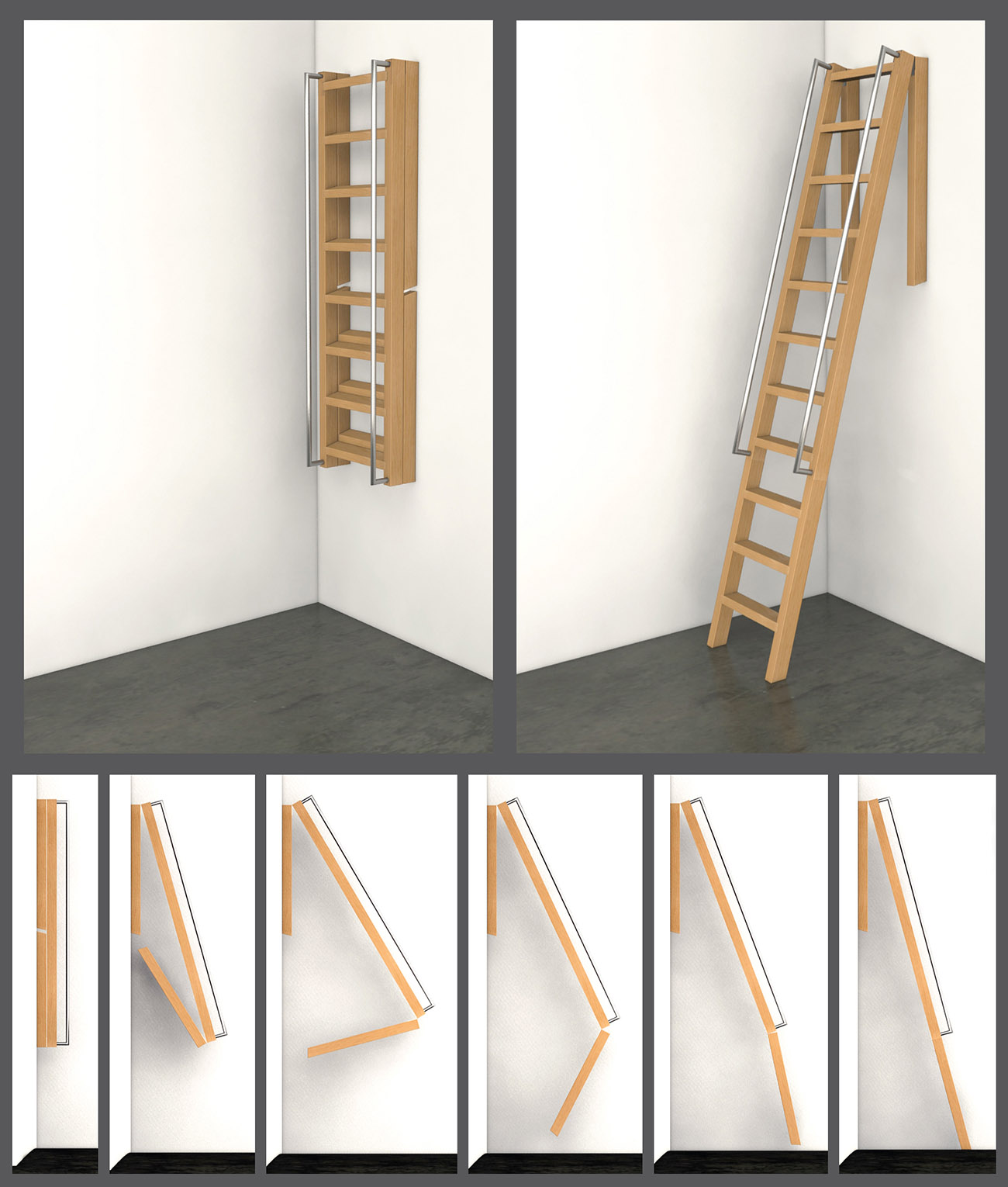 Space Saving Roof Access Ladder Design News Studio Simic