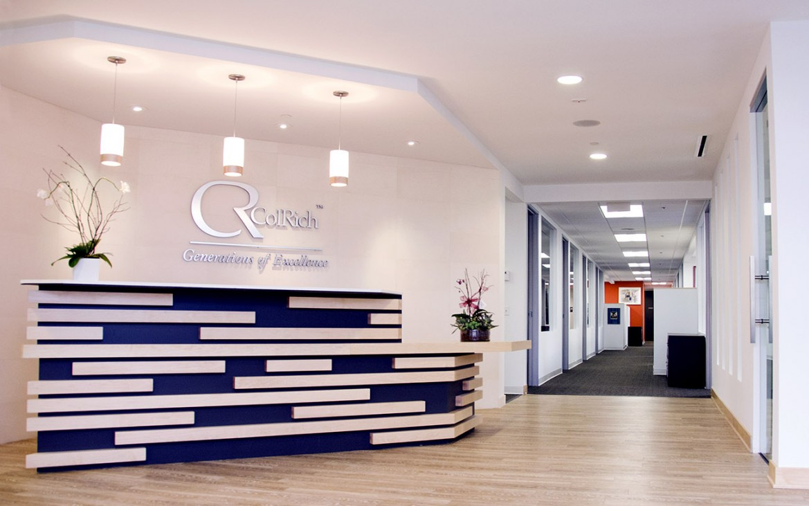 Colrich headquarters interior design san diego studio for One room office interior design