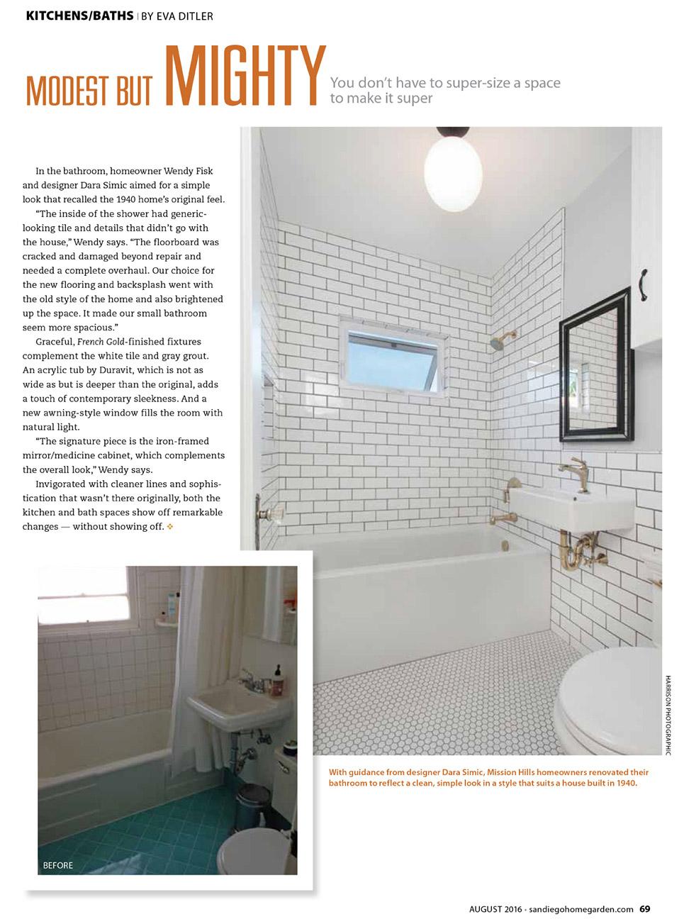 1940 Bathroom Remodel - [aragundem.com]